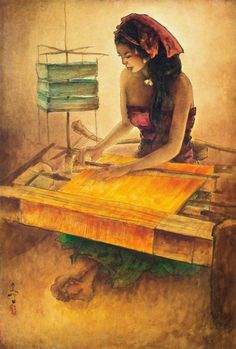 Lee Man Fong, Balinese Weaver