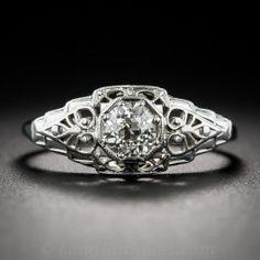 .60 Carat Art Deco Diamond Engagement Ring  - Vintage Diamond Engagement Rings…