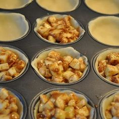 Mini Apple Pies* Pie crusts, apples, flour, cinnamon, nutmeg, sugar, butter:  bake 400* 18-22 min. Serve with ice cream