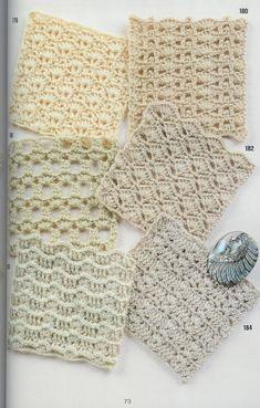 262 patrones gratis de puntos crochet Crochet Blanket Patterns, Baby Blanket Crochet, Crochet Stitches, Crochet Cardigan, Knit Crochet, Crochet Diagram, Couture, Baby Toys, Fiber Art