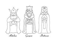 Tres Reyes Magos Para Colorear