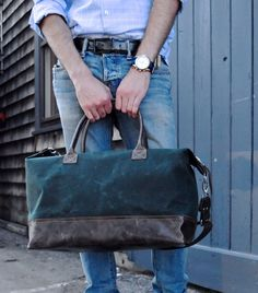 Weekender in Forest Green Waxed Canvas
