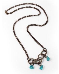 Vintaj - N0892 - Sea Chain by Betsy Kaage for the July 2013 Ocean Surf theme. Sea Glass Pebbles from Trinket Foundry