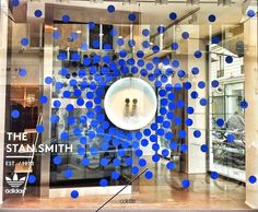 We went dotty in Paris over the weekend and installed our new windows for the Colette x Stan Smith collab! Blue dots lifted from Colette's...