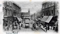 Deptford Broadway, Deptford, London, 1906 Looking East, Deptford High Street is on the left Old Greenwich, Greenwich London, London Bus, London Street, Vintage London, Old London, Old Hospital, Uk History, Grove Park