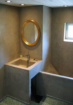 Tadelakt 14 Tadelakt, Mirror, Stone, Bathroom, Furniture, Home Decor, Washroom, Rock, Decoration Home