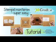 Stempelmontage ganz einfach - Gummistempel montieren auf EZ-Mount - JM-Creation - YouTube Easy, Youtube, Simple, Youtubers, Youtube Movies