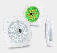 Die Günstigen, Akkubetriebenen Pool LED Magnetscheinwerfer Können An Jede  Beliebige Stelle Der Poolwand Oder