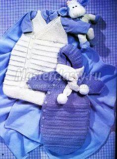 вязание конверт для новорожденного спицами мастер-класс с пошаговым фото