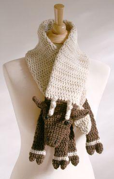 PDF Crochet Pattern for Reindeer Scarf  DIY by BeesKneesKnitting, $6.00