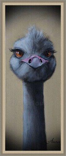 Vogelstrauß Poster oder Kunstdruck von ANOWI bestellen