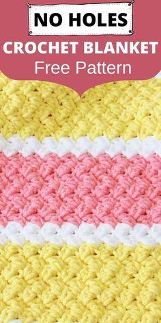 Striped Crochet Blanket, Baby Afghan Crochet Patterns, Free Baby Blanket Patterns, Crochet Baby Blanket Free Pattern, Easy Crochet Blanket, Crochet For Beginners Blanket, Free Crochet, Crochet Blankets, Crochet Ripple Afghan