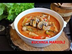 ZUPA STROGONOW - Z WIEPRZOWINY - YouTube Thai Red Curry, Stew, Food And Drink, Baking, Ethnic Recipes, Youtube, Asia, Cooking, Food And Drinks
