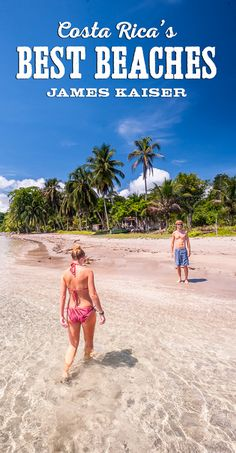 Stunning beaches in Costa Rica!! Guide to the best Pacific and Caribbean beaches.