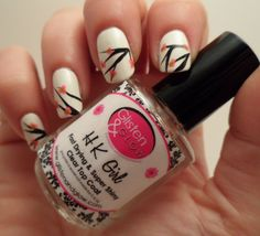 Glisten and Glow HK Girl Top Coat ~ quick-dry, non-smudge finish over nail art ~ available from Rainbow Connection (UK)