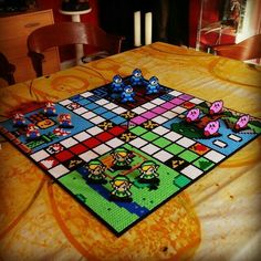 Made this board game Ludo in collaboration with See more pictures … – Geeks – Hama Beads Perler Bead Designs, Hama Beads Design, Diy Perler Beads, Pearler Bead Patterns, Perler Bead Art, Perler Patterns, Pearler Beads, Hama Beads Mario, Hama Beads Coasters