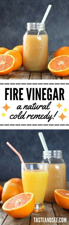 A Natural Remedy For The Common Cold - Fire Vinegar! Natural Cold Remedy | Flu Remedy | http://tasteandsee.com