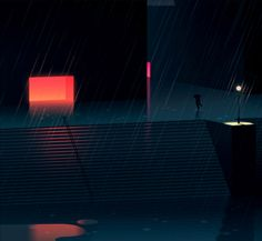 Illustrator Romain Trystra creates atmospheric cityscapes in his series 'Réflexions Faites'