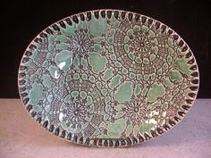 Ceramics, Art Pottery, Bowl, Home Decor, Soap Dish, Emerald Green, Spoonrest, Trinket Tray, Plate, Candle Holder