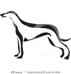 Greyhound Silhouette | Reverie Levrier | Pinterest | Clipart ...