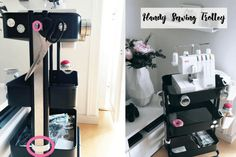 Handy Sewing Trolley - RÅSKOG cart hack - IKEA Hackers - Ironing board on wheels: Your sewing room needs this – IKEA Hackers - Sewing Room Design, My Sewing Room, Sewing Studio, Sewing Rooms, Sewing Kit, Sewing Room Organization, Craft Room Storage, Fabric Storage, Organization Hacks