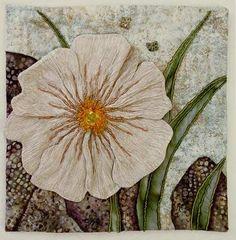 herminehesse: White Poppy - Thom Atkins - Embellished quilting...