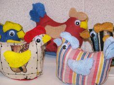 Chicken pincushions
