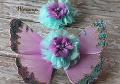 Hey, I found this really awesome Etsy listing at https://www.etsy.com/listing/182168393/couture-fairy-wing-and-baby-headband-set
