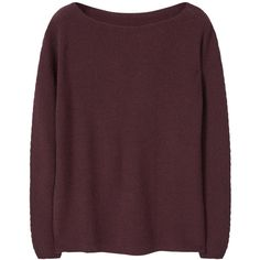 Ribbed Wool-Blend Sweater (2.925 RUB) ❤ liked on Polyvore featuring tops, sweaters, mango sweater, cable-knit sweater, long sleeve sweater, purple top and long sleeve tops
