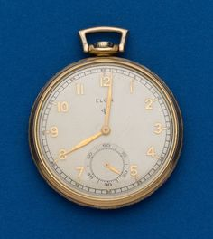 Elgin 15 Jewel 12 Size Pocket Watch Case: gold filled, 12 size, snap back Dial: metal, gold Arabic Movement: 15 - Available at Tuesday Internet Watch and. Pendant Watch, Pocket Watch Antique, Pocket Watches, Watch Case, Auction, Plate, Jewels, Antiques, Metal
