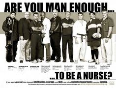 Recent History (2002), Flyers like this one were made to attract men to nursing