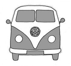 VW bus printable (freezer paper stencil)