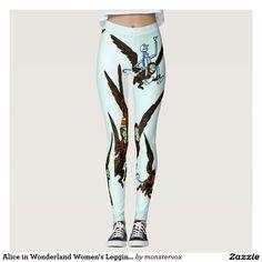 Alice in Wonderland Women's Leggings #Leggings #Yoga #Pants #Activewear #Sports #Sportswear #AliceinWonderland #Fantasy #Fashion #Design