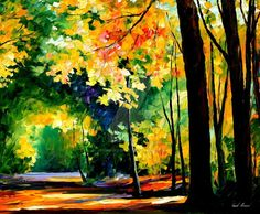 This is an oil painting on canvas by Leonid Afremov made using a palette knife only. You can view and purchase this painting here -afremov.com/FRESH-FOREST-PALET… Use 15% discount coup...