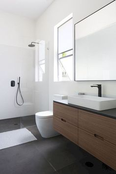 If you're wondering how to decorate a bathroom, you'll love these small bathroom design ideas. Create a stylish bathroom with big impact with our easy small bathroom decorating ideas. Minimalist Bathroom, Bathroom Renovation, Bathroom Flooring, Bathroom Decor, Bathroom Design Small, Small Bathroom Design, Bathroom Interior Design, Bathroom Vanity Designs, Bathroom Renovations