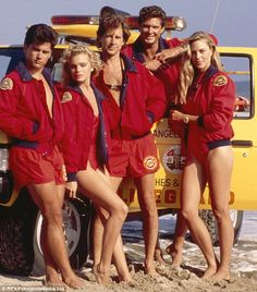Baywatch, 1989: Season one of the show featured cast members Billy Warlock, Erika Eleniak, Parker Stevenson, David Hasselhoff and Shawn Weatherly