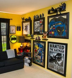 15 Game Room Ideas You Did Not Know About + Pros & Cons More ideas below: Teenage gamer room ideas Organization Girly games room Lights Seating decor Minimalist Ikea gamer room diy Small Modern gamer room ideas man cave Design Couple Kids gamer room ideas Marvel Bedroom, Batman Bedroom, Batman Room Decor, Cool Kids Bedrooms, Boys Bedroom Decor, Bedroom Ideas, Nerd Bedroom, Diy Bedroom, Trendy Bedroom