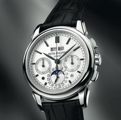 Discover a large selection of Patek Philippe Perpetual Calendar Chronograph watches on - the worldwide marketplace for luxury watches. Compare all Patek Philippe Perpetual Calendar Chronograph watches ✓ Buy safely & securely ✓ High End Watches, Fine Watches, Cool Watches, Rolex Watches, Patek Philippe, Stylish Watches, Luxury Watches For Men, Modern Watches, Men Watches