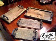 Custom Made Barnwood Trays