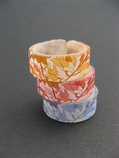 Orange flowers design ring by PipioLilibird on Etsy, $5.99