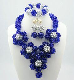Hot 2015 Red Nigerian Wedding African Beads Jewelry Set Dubai Set Bridal Jewelry Neckalce Sets Free Shipping C123-1