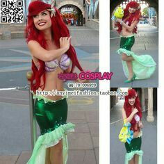 Disneys ariel little mermaid wig custom made hairstyles tips costume idea diy ariel solutioingenieria Image collections