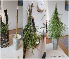 VillaTuta: Kuusia mustikanvarvuista! Outside Christmas Decorations, Diy Christmas Garland, Christmas Flowers, Diy Christmas Ornaments, Rustic Christmas, Winter Christmas, Christmas Holidays, Alternative Christmas Tree, Holiday Centerpieces