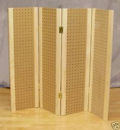 """Pegboard Display-4 Panels - 34-1/4"""" Tall - Folds Flat. Could also use as room…"""