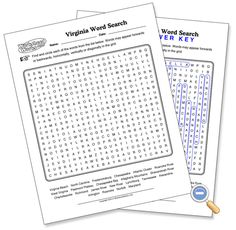 Virginia Geography Word Search - WorksheetWorks.com
