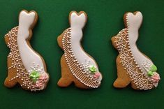 Easter Bunnies Icing Lace decorated Hungarian gingerbread