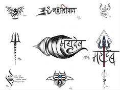 Lord Shiva Mahadev Tattoo Designs, Om Namah Shivai Tattoo Designs, Trishul Tattoo Designs to have symbol of spiritual connection. Hamsa Tattoo Design, Indian Tattoo Design, Shiva Tattoo Design, Om Trishul Tattoo, Trishul Tattoo Designs, Mantra Tattoo, Hand Tattoos, Om Tattoos, Tatoos