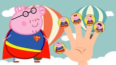 #Superman #Peppa Pig Family , #Finger Family Song , #Nursery Rhyme Lyrics Pig Family, Finger Family, Rhymes Lyrics, Family Songs, Peppa Pig, Tweety, Superman, Nursery, Fictional Characters