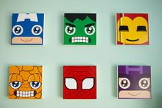 What I want to do for Christopher's room!! But change out a few super heroes!