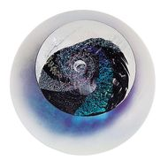 """Black Hole"" glass paperweight handmade by Glass Eye Studio. Get the whole collection at Earthwood Galleries!"